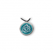 Amulett Closed Knot cyan, liten